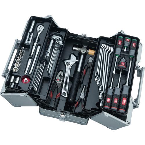 トラスコ中山 KTC 工具セット(両開きメタルケ-スタイプ) SK3561W