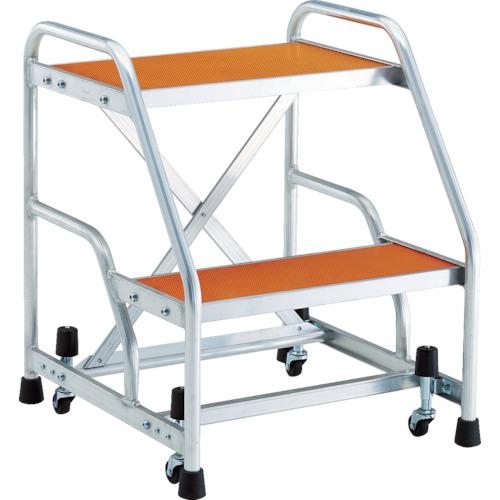 トラスコ中山 TRUSCO アルミ製作業用踏台 マグネット保持キャスター付 高さ0.6m2段 TAF92MG