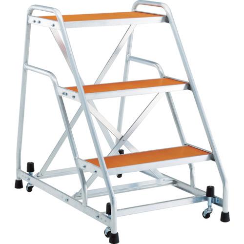 トラスコ中山 TRUSCO アルミ製作業用踏台 マグネット保持キャスター 高さ0.9m3段 TAF93MG