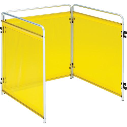 トラスコ中山 TRUSCO 小型溶接遮光フェンス 900mm角 三面セット 黄 TTY3900Y