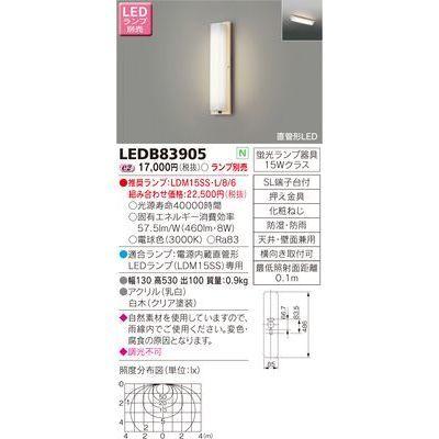 東芝 LEDアウトドアブラケット LEDB83905