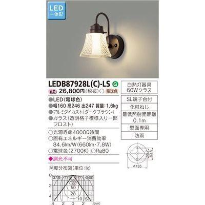 東芝 LEDアウトドアブラケット LEDB87928L(C)-LS