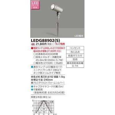 送料無料 東芝 新作 LEDガーデンライト S 門柱灯ランプ別 新作製品 世界最高品質人気 LEDG88902