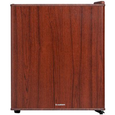 エスキュービズム 1ドア インテリア冷蔵庫 49L ダークウッド WRH-1049DW