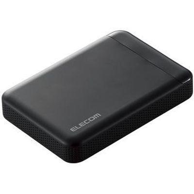 エレコム ELECOM Portable Drive USB3.1 500GB Black/ビデオカメラ向け ELP-EDV005UBK