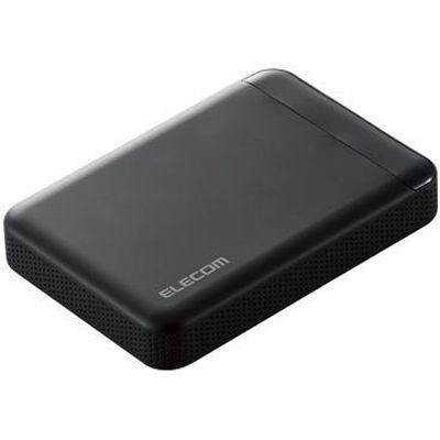 エレコム ELECOM Portable Drive USB3.1 1TB Black/ビデオカメラ向け ELP-EDV010UBK
