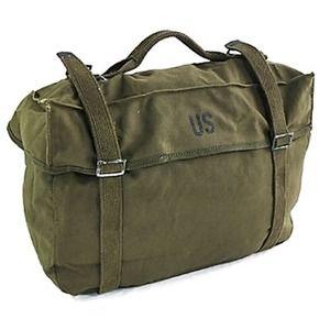 その他 アメリカ軍放出M1945帆布綿キャンパスカーゴバック未使用デットストック ds-2044937