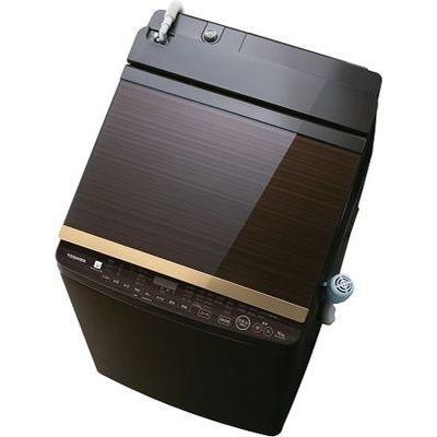 東芝 「ウルトラファインバブル洗浄」搭載 縦型洗濯乾燥機(グレインブラウン) AW-10SV7-T