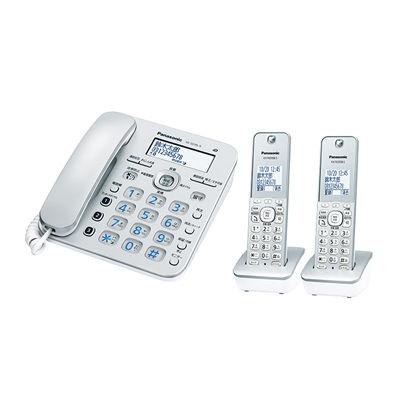 パナソニック コードレス電話機(子機2台付き)(シルバー) VE-GD36DW-S