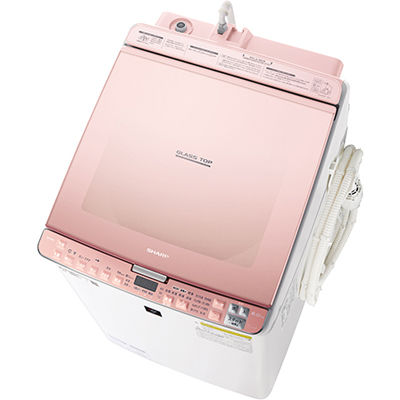 シャープ タテ型洗濯乾燥機 (ピンク系) ES-PX8C-P【納期目安:約10営業日】