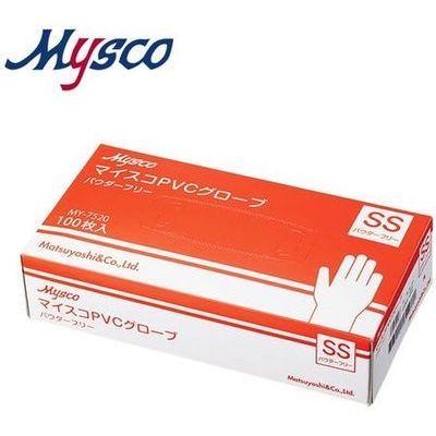 その他 【※こちらは40箱ごとでの販売となります】マイスコPVCグローブ パウダーフリー サイズ:SS 入数:100枚 4535847001287