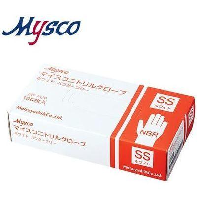 その他 【※こちらは40箱ごとでの販売となります】マイスコニトリルグローブ ホワイト パウダーフリー サイズ:SS 入数:100枚 4535847003595