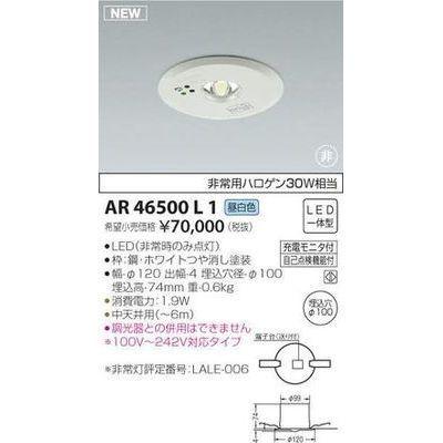 コイズミ 非常灯(LED[昼白色]) AR46500L1