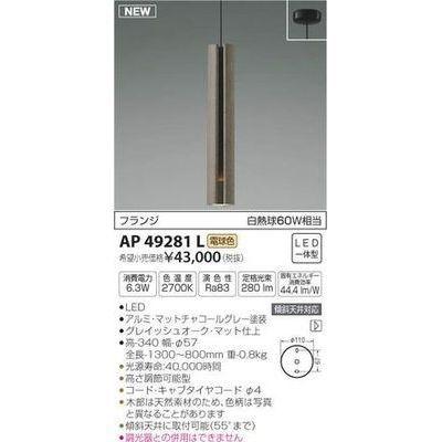 コイズミ ペンダント(LED[電球色]) AP49281L