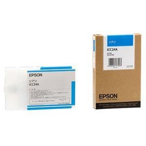 その他 (まとめ) エプソン EPSON PX-P/K3インクカートリッジ シアン 110ml ICC24A 1個 【×6セット】 ds-1571921