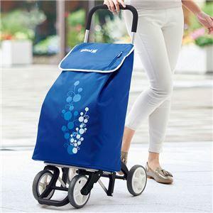その他 イタリアデザイン ショッピングカート ツイン 【ブルー】 幅40cm ファスナーポケット キャスター付き 『GIMI』 ds-2056071