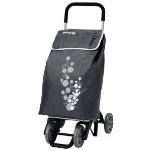 その他 イタリアデザイン ショッピングカート ツイン 【グレー】 幅40cm ファスナーポケット キャスター付き 『GIMI』 ds-2056072