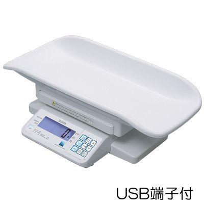タニタ デジタルベビースケール(検定品) BD-715A 規格:USB端子付 (重力補正:1区仕様) 23-5491-0201【納期目安:1週間】