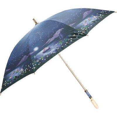 ディズニー 長傘 日傘/晴雨兼用 キャンバスパラソル リトルマーメイド/ナイトデート 8本骨 50cm FF-02838