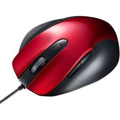 正規激安 送料無料 サンワサプライ 有線ブルーLEDマウス MA-BL123R