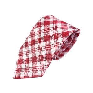 その他 織りチェックシリーズ 日本製シルク100% ピンクレッド ds-2058470