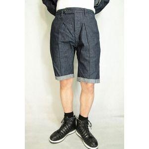 その他 VADEL intuck trousers shorts INDIGO COMB サイズ48【代引不可】 ds-2063086