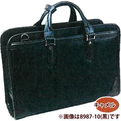 株式会社青木 ラフェールトリプルファスナー合皮ビジネスバッグ(キャメル) 8987-52