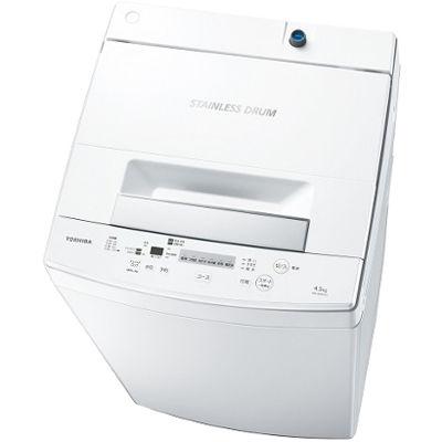 東芝 4.5kg 全自動洗濯機 (ピュアホワイト) AW-45M7-W