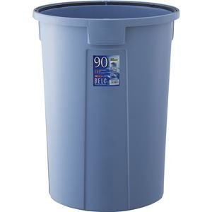その他 【5セット】 ダストボックス/ゴミ箱 【90N 本体】 ブルー 丸型 『ベルク』 〔家庭用品 掃除用品 業務用〕 ds-2042480