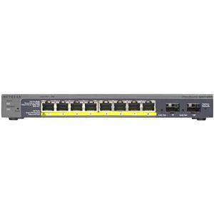 その他 NETGEAR Inc. GS110TP ギガ10ポート スマートスイッチ(PoE 8ポート + SFP 2スロット) ds-2068054