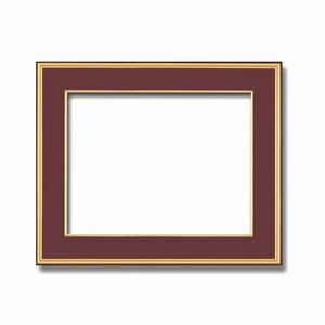 その他 【和額】黒い縁に金色フレーム 日本画額 色紙額 木製フレーム ■黒金 色紙F10サイズ(530×455mm) エンジ ds-2070395