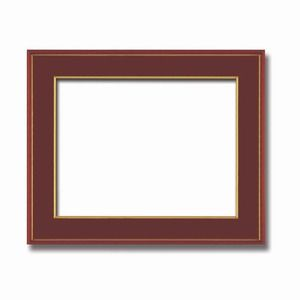 その他 【和額】赤い縁に金色フレーム 日本画額 色紙額 木製フレーム ■赤金 色紙F10サイズ(530×455mm) エンジ ds-2071602