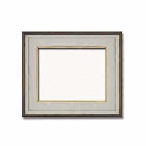 その他 【高級日本画額】前面アクリル仕様 高級和額 厚みのある作品収納可 ■高級色紙F6サイズ(410×318mm)ダークオーク ds-2072108