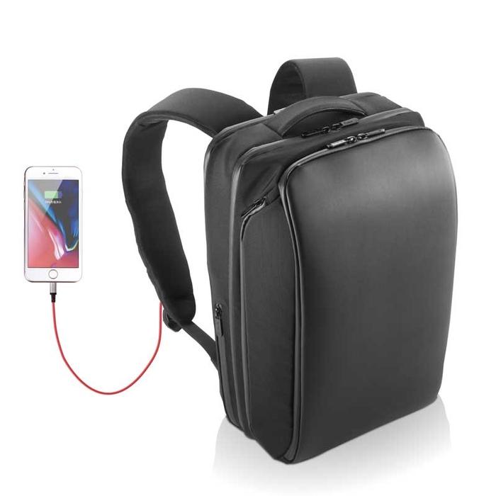 エレコム エレコム 圧倒的なポケット数 4気室 大容量 バックパック リュック ビジネスバッグ USB充電ポート付 撥水 止水ファスナー 収納サイズ(A4 13.5/14/15/15.4/15.6インチPC MacBook Pro 15)