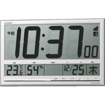 リズム時計 シチズン 掛置き兼用時計 (白) 8RZ200-003