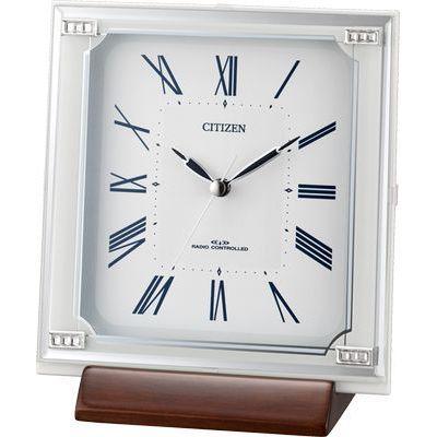 リズム時計 シチズン 置き時計 (白) 4RY712-003