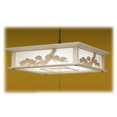 タキズミ LEDペンダントライト 調光 昼光色 8畳用 木製枠 彫刻飾り RVM80048【納期目安:約10営業日】
