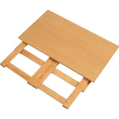 ファミリー・ライフ 木製折り畳みテーブル 高さ55cm ナチュラル 0351420 1台 4589978088457【納期目安:2週間】