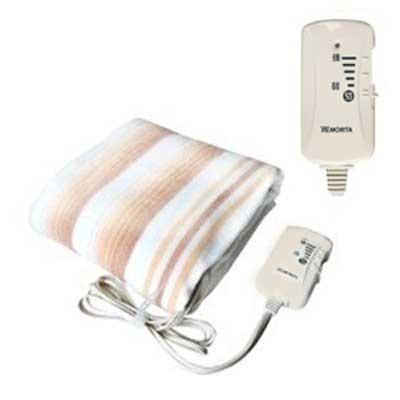 送料無料 新作 格安 価格でご提供いたします 大人気 あす楽対応_関東 MORITA 室温センサー付洗える電気敷毛布140×80cm TMB-S14KS