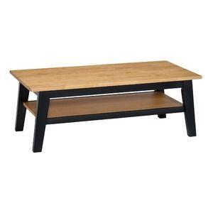 その他 ビンテージ調 ローテーブル 【幅105cm】 木製脚 天板 収納棚付き ツートン 〔リビング ダイニング〕【代引不可】 ds-2084685