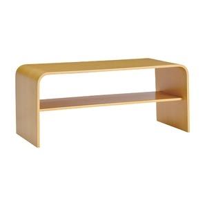 その他 シンプルモダン ローテーブル 【ナチュラル】 幅91.5cm 棚板1枚付き 高耐久性 オーク材 〔リビング ダイニング〕【代引不可】 ds-2084693