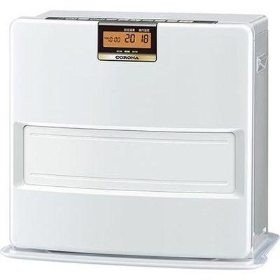 コロナ エコモードも搭載。W消臭、足元温風で快適。石油ファンヒーター VXシリーズ FH-VX4618BY-W