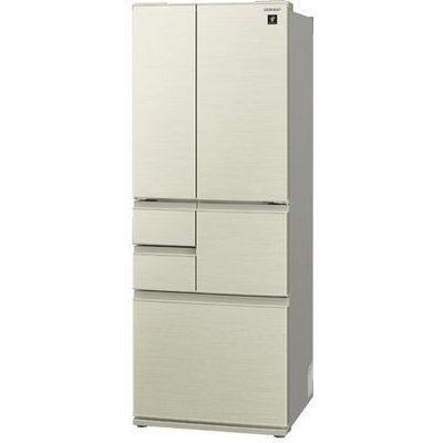 シャープ 502L 6ドア 冷蔵庫フレンチドア シャンパンゴールド SJ-F501E-N【納期目安:2週間】