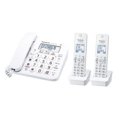 パナソニック デジタルコードレス電話機(子機2台付き) ホワイト VE-GZ21DW-W【納期目安:1ヶ月】