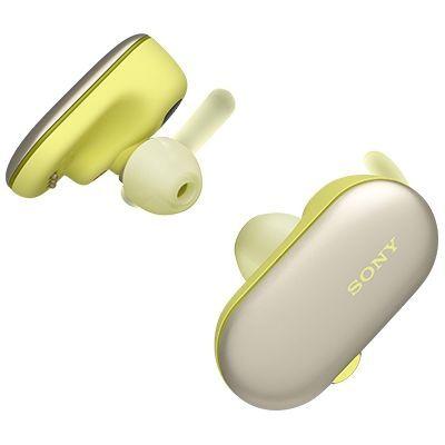 ソニー 4GB メモリー内蔵完全ワイヤレス Bluetoothイヤホン(イエロー) WF-SP900-YM【納期目安:3週間】