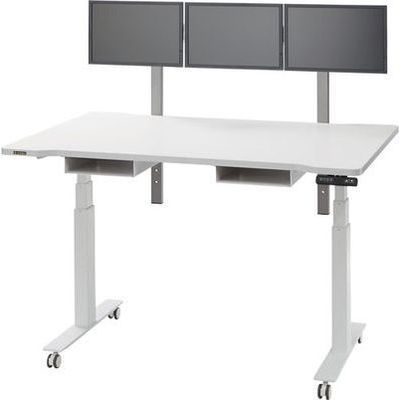 オーロラ 電動昇降テーブル ディスプレイ小型3面タイプ URD-1400EM3