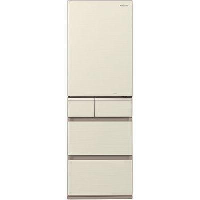 パナソニック 5ドアパーシャル搭載冷蔵庫(406L・右開き) シャンパンゴールド NR-E414GV-N【納期目安:約10営業日】