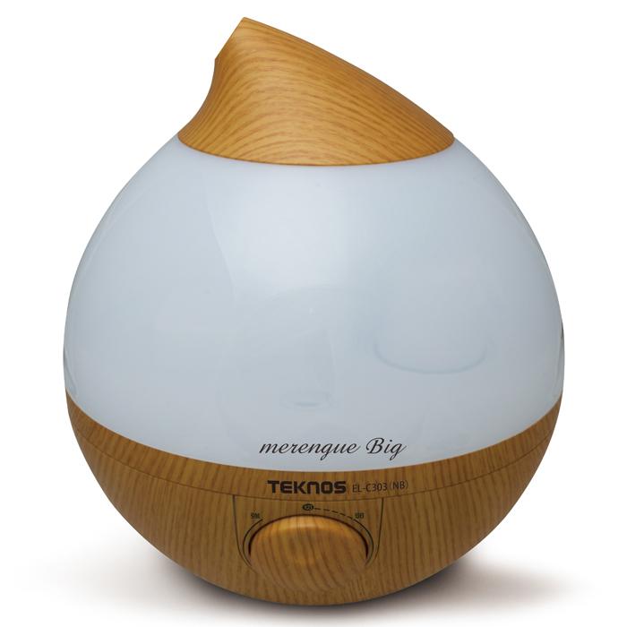 TEKNOS 滴型超音波加湿器 3.6 メレンゲ ナチュラルブラウン EL-C303-NB