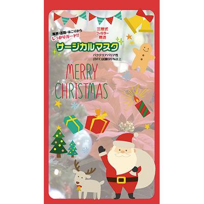 その他 【600個セット】クリスマスサージカルマスク1枚入 2213945