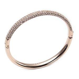 その他 Swarovski(スワロフスキー) Stone Mini Rose Gold シルククリスタル パヴェ バングル Sサイズ 5032849 ds-1609037